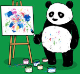 Pandas Paint Colorful Pictures