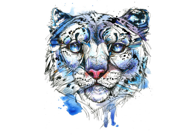 Icy Snow Leopard  Artwork