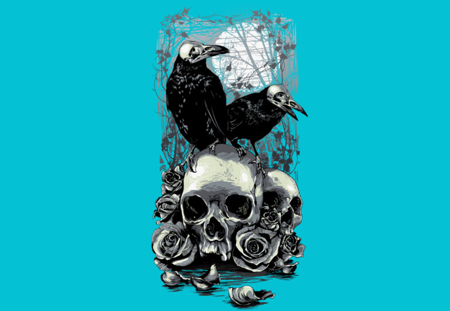 Crows & Skulls M  Artwork