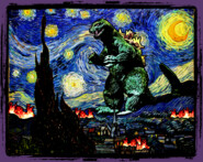 Godzilla versus Starry Night