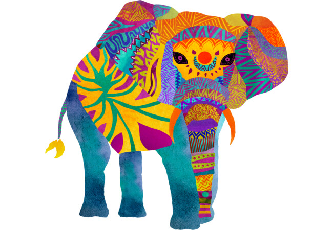Whimsical Elephant  Artwork