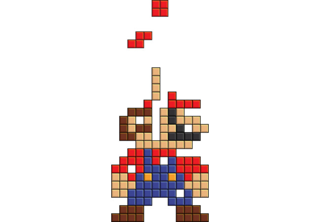 Super Mario Tetris  Artwork