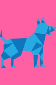 Low Polygonal Dog