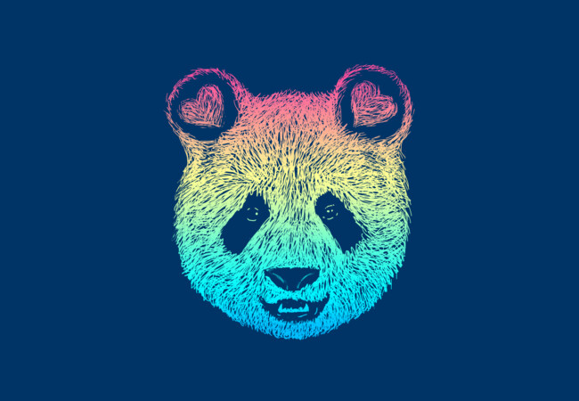 Rainbow Panda  Artwork