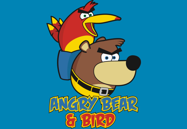 Angry Bear & Bird  Artwork