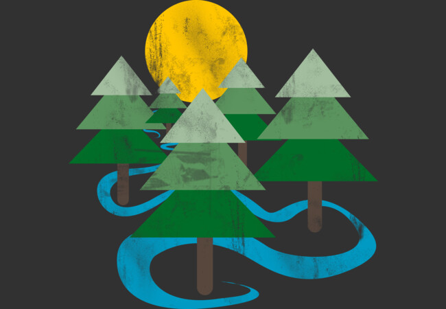 Minimalist Forest  Artwork