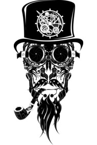 steampunk beard man