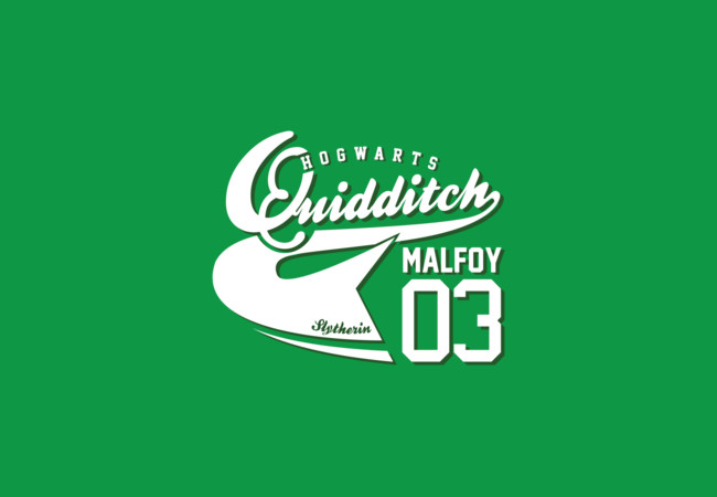 Quidditch Malfoy Athletic Tee  Artwork
