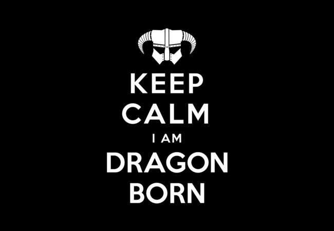 Keep Calm I Am Dragonborn  Artwork