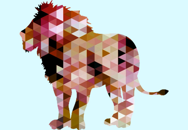 Lion [Triangulated Series]  Artwork