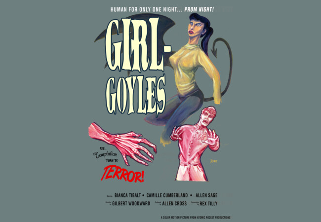 """Girl-Goyles""Movie Poster  Artwork"
