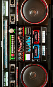 Retro Boombox Ghetto Blaster Case