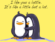 I Like you Lottle Penguins