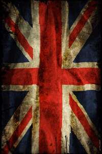 Grunge British Flag by Jetti