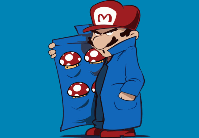 Mario Shroom Dealer  Artwork