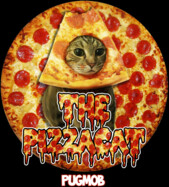 PIZZACAT PUGMOB SUPER RARE AMAZING SHIRT (WOW