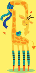 The bird and the giraffe
