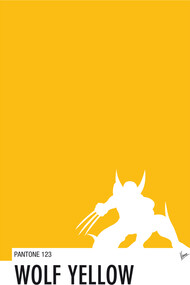 My Superhero 05 Wolf Yellow Minimal Pantone p