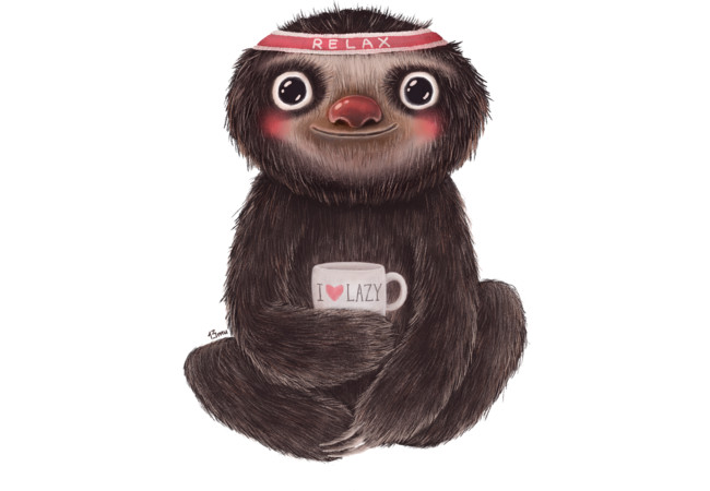 Sloth I♥lazy  Artwork