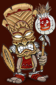 Wilson Warrior Tiki God
