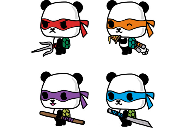 Teenage Mutant Ninja Pandas  Artwork