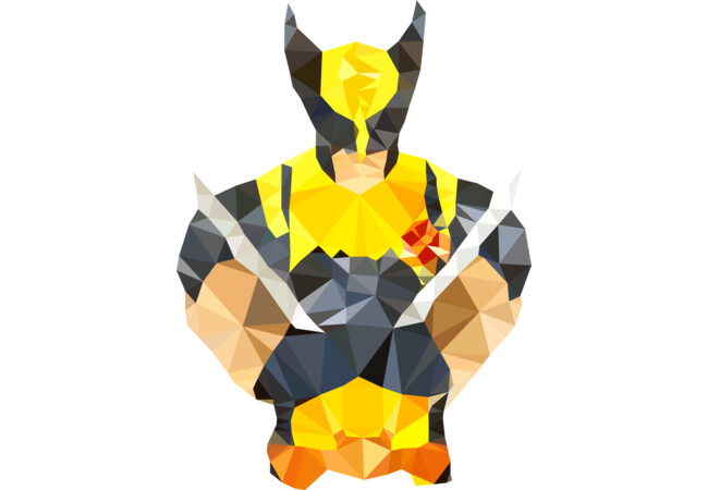 Polygon Heroes - Wolverine  Artwork