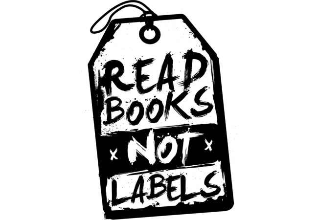 Read books not labels  Artwork