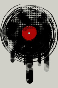 Melting Vinyl Record Dj Retro Music Vintage D