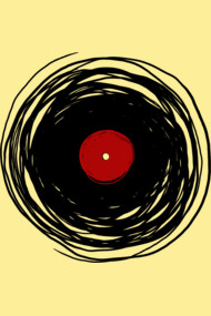 Spinning With A Vinyl Record - Retro Music DJ
