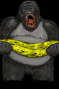 GORILLA cry from death of banana