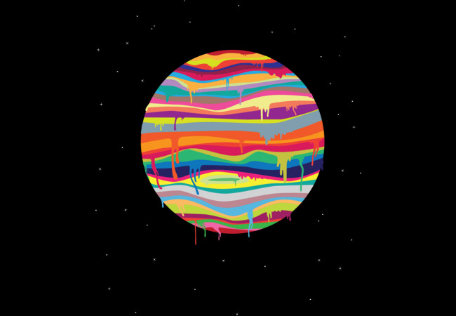 The Melting tee  Artwork