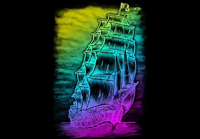 Caleuche Ghost Pirate Ship - Color  Artwork