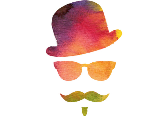 Original Hipster Watercolor  Artwork