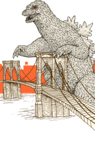 Godzilla vs. the Brooklyn Bridge