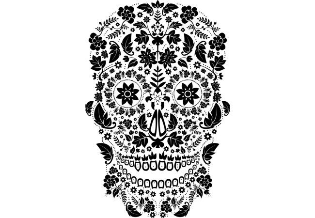 Day of the Dead Skull No6  Artwork