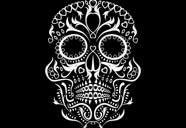 Day of the Dead Skull No8  Artwork