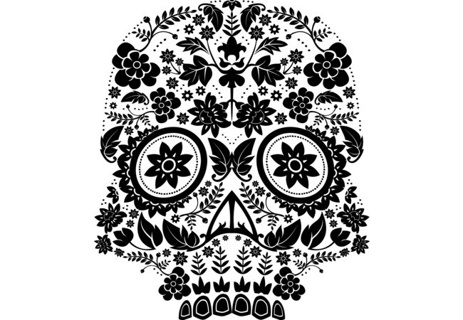 Day of the Dead Skull No16  Artwork