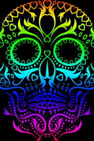 Spectrum Day of the Dead Skull