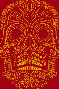 Skull Pattern Yellow Line