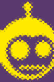 Halftone Monkeybot: Yellow