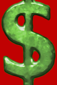 Grunge Style Money Sign Symbol Illustration