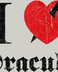 I love (to kill) Dracula (black eroded)