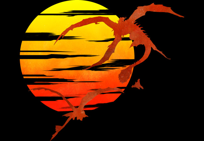 Dragon sunset  Artwork