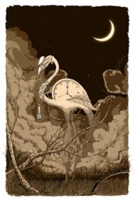Flamingo Night (Monotone Color)