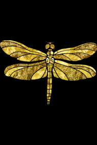 Gold Glam Dragonfly