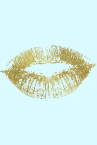 Gold Kiss Lips