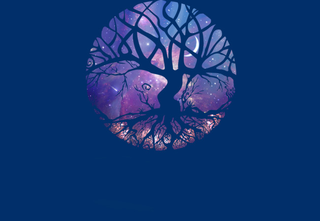 Night Magic Tree  Artwork