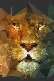 Lion Low Poly Art