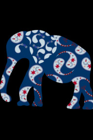Elephant Paisley - Indian pattern
