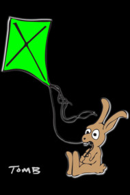 Bunny Flies a Kite
